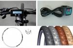 Аксесоари за електрически велосипеди, скутери, триколки